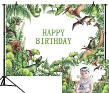 CapiSco 5X3FT Dinosaur Backdrop Primitive Forest Dinosaur Animal Photo Backrop Jungle Background for Newborn Baby Kids Boys Birthday Party Photography Background Photo Booth Backdrop SCO30