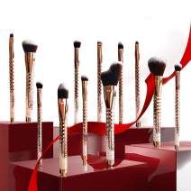Brush Master Makeup Brushes, Premium Synthetic Kabuki Foundation Face Powder Concealers Eye Shadows Makeup Brush Set, 12 Pcs