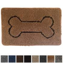 Gorilla Grip Original Shaggy Chenille Pet Area Rug Mat, 44x26, Extra Soft on Cats and Dogs Paws, Pet Door Mat, Mats Machine-Washable, Perfect Rugs for Dog Crates, Under Bowls, Bone Camel
