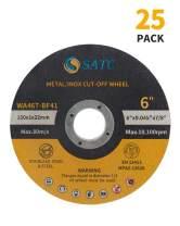 "SATC 25 PCS Cut Off Wheels 6 Inch Cutting Wheel 6""x.040""x7/8"" Cutting Discs Fits Angle Grinder Concrete Accessories Saw Grinder Metal Cut Tools Grinder Attachment"