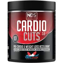 NDS Nutrition Cardio Cuts 3.0 Pre Workout Supplement - Advanced Weight Loss and Pre Cardio Formula with L-Carnitine, CLA, MCTs, L-Glutamine, and Safflower Oil - Bombsicle (40 Servings)