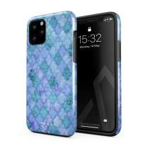 BURGA Phone Case Compatible with iPhone 11 PRO - Paradise Turqoise Teal Moroccan Tiles Pattern Mosaic Cute Case for Girls Heavy Duty Shockproof Dual Layer Hard Shell + Silicone Protective Cover