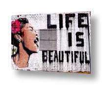 """Alonline Art - Life Is Beautiful by Banksy 