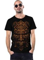 True Illuminati Crew Neck Men's Top - Exclusive Artwork - Print Cotton T-Shirt