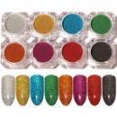 BORN PRETTY 1g Holographic Laser Powder Nail Glitter Manicuring Iridescent Pigments 8 Colors