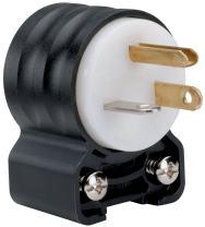Legrand - Pass & Seymour PS5366SSANCCV4 Straight Blade Angled Plug Three Wire 20-Amp 125-volt Easy Install