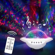 Star Night Light Projector for Kid's Room - Rotating Color-Changing Lamp with Remote Control - USB for Charging - Play Lullabies for Kids from Mobile Phone via Bluetooth - Cool Gift for Boys and Girls