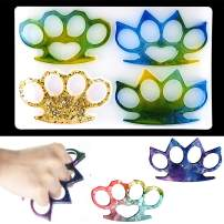 Silicone Resin Mold Brass Knuckles Epoxy Casting Moulds Finger Keychain DIY Craft Making Mold for Christmas Party Favor