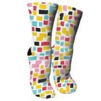 ULQUIEOR Women Cute Ventilation Cotton Novelty Dress Crew Socks