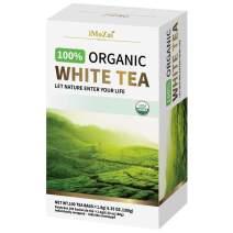 Imozai Organic White Tea Bags 100 Count Individually Wrapped