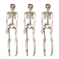 KINGYEE Halloween Skeleton Decorations Hanging 16-Inch Skeleton Props Set of 3 for Mantel Yard Garden Porch Door Décor Party Supplies