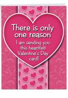 B-tch If I Didn't - Funny Valentine's Day Card with Envelope, Big 8.5 x 11 Inch - Hilarious Appreciation Notecard Stationery for Women, Wife, Girls - Loving Happy Valentines Card, Stationery J2129