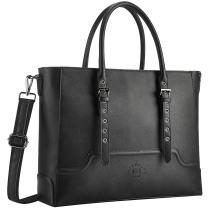 17 Inch Briefcase for Women,Classic Laptop Bag for Women Multi-Pockets Work Bag Business Computer Bag with Adjustable Shoulder Strapand Tablet,black