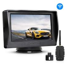 BOSCAM K1 Wireless Backup Camera Kit, Backup Camera for Cars, Pickup Trucks, Sedans, Minivans, IP68 Waterproof Rear-View Camera with 4.3'' Monitor