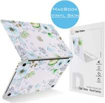Digi-Tatoo MacBook Skin Decal Sticker Compatible with MacBook Pro 15 inch w/Touch Bar (Model A1707/A1990), Easy Apply, Full Body Protective and Anti-Scratch Vinyl Skin [Elegant Flower]