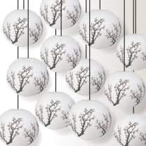 Quasimoon Paperlanternstore.com 12 Pack - Cherry Blossom/Sakura Paper Lantern, Hanging Party Decoration Combo Set