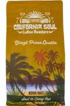 California Soul Gourmet Ground Coffee - Single Origin, Brazil Prima Qualita - Medium Roast, 12oz Bag - Premium, Fresh Roasted, Small Batch - For Coffee, Espresso, French Press, Pour Overs, Cold Brew