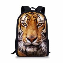 Coloranimal Cool 3D Tiger Head Printing Children School Backpacks