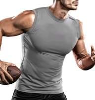 DRSKIN Undershirts Running Shirt Tank Tops Men's Cool Dry Compression Baselayer Sleeveless