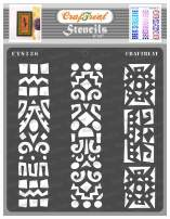 CrafTreat Indian Stencils for Painting on Wood, Wall, Tile, Canvas, Paper, Fabric and Floor - Folk Art Borders Stencil - 6x6 Inches - Reusable DIY Art and Craft Stencils - Indian Border Stencil