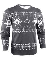 Abollria Men's Casual Crew-Neck Pullover Sweater Knitted Long Sleeve Tops Slim Fit