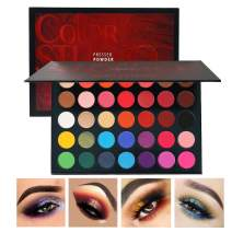 Beauty Glazed Sweatproof Matte and Shimmer Eyeshadow Make up Palettes Highly Pigmented 35 Colors Professional and Home Make up Christmas Palette Blendable Pressed Powder Eye Shadow