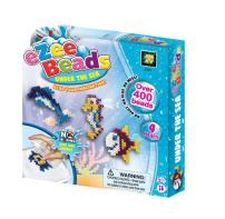 AMAV Toys Ezee Beads: Water Fuse Beads - Under The Sea Craft Kit - No Ironing DIY Game for Kids Aged 5+, Multicolor