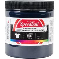 Speedball Fabric Screen Printing Ink, 8-Ounce, Blue Denim