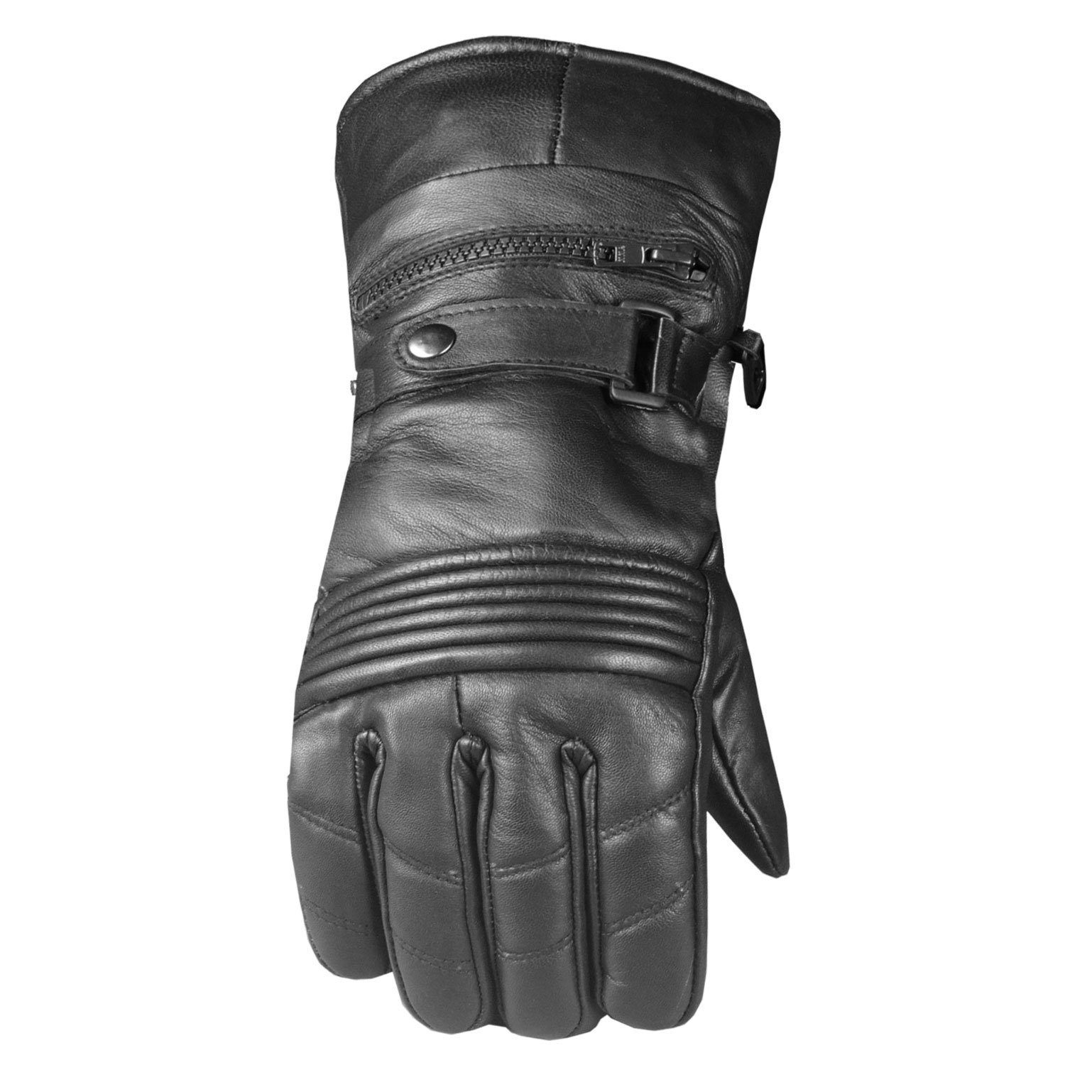 -20 ℉ Men's Premium Leather Thermal Winter Waterproof Cover Motorcycle Gloves L