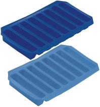 Prepworks by Progressive Flexible Ice Sticks Trays - Set of 2, Ice Cube Tray, Cylinder Ice Cubes, Silicone Tray