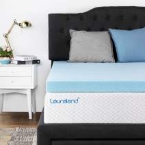 Lauraland Memory Foam Mattress Topper Full, 2 Inch Active Cooling Design Bed Topper, CertiPUR-US 10-Year Warranty (2 Inch, Full)