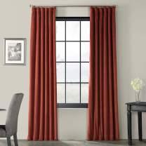 HPD Half Price Drapes VPCH-180105-108 Signature Blackout Velvet Curtain (1 Panel), 50 X 108, Crimson Rust