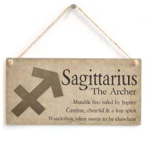 "Meijiafei Sagittarius The Archer - Beautiful Spiritual Gift Astrology Sign of The Zodiac Plaque 10"" x 5"""