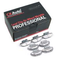 CKAuto P Style 3/4oz, 0.75oz Lead Clip on Wheel Weights, Uncoated, 50Pcs/Box
