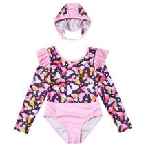 Mirwise Girls Swimsuits Swimwear Bathing Suit Beach Bikini with Doll Swimsiuts 4-13Y