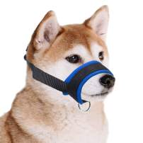 wintchuk Dog Muzzle with Comfortable Fabric for Small, Medium and Large Dogs, Prevent for Biting, Chewing, Adjustable
