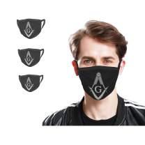 Freemason Mask 3 Pcs Unisex Fashion Face Mask Washable Scarf Balaclava Breathable Reusable Fabric Masks