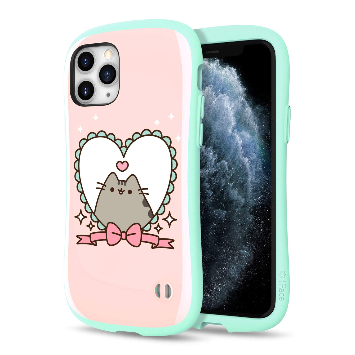 [2019] Case for iPhone 11 Pro, iFace [First Class] Pusheen Cat Series Dual Layer Anti Shock Fit Air Cushioned [TPU + PC] [Heavy Duty Protection], Pusheen Heart Frame
