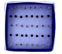 Lisli 60x Rhinestone Stainless Steel Crystal Nose Ring Bone Stud Body Piercing Jewelry