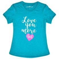 Grace & Truth Women's Love You More T-Shirt - Cyan -