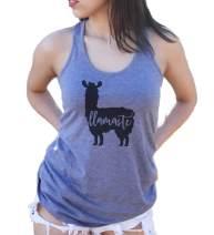 Llamaste Women's Racerback Tank Top Llama Yoga Shirt