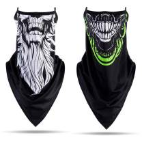 Ayliss Balaclava Ear Loops Rave Scarf Triangle Neck Gaiter Bandana Breathable Outdoor Motorcycle Cycling Sports Festival