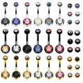 BodyJ4You 18PC Belly Button Rings 14G Surgical Steel CZ Girl Women Navel 18 Replacement Balls Pack