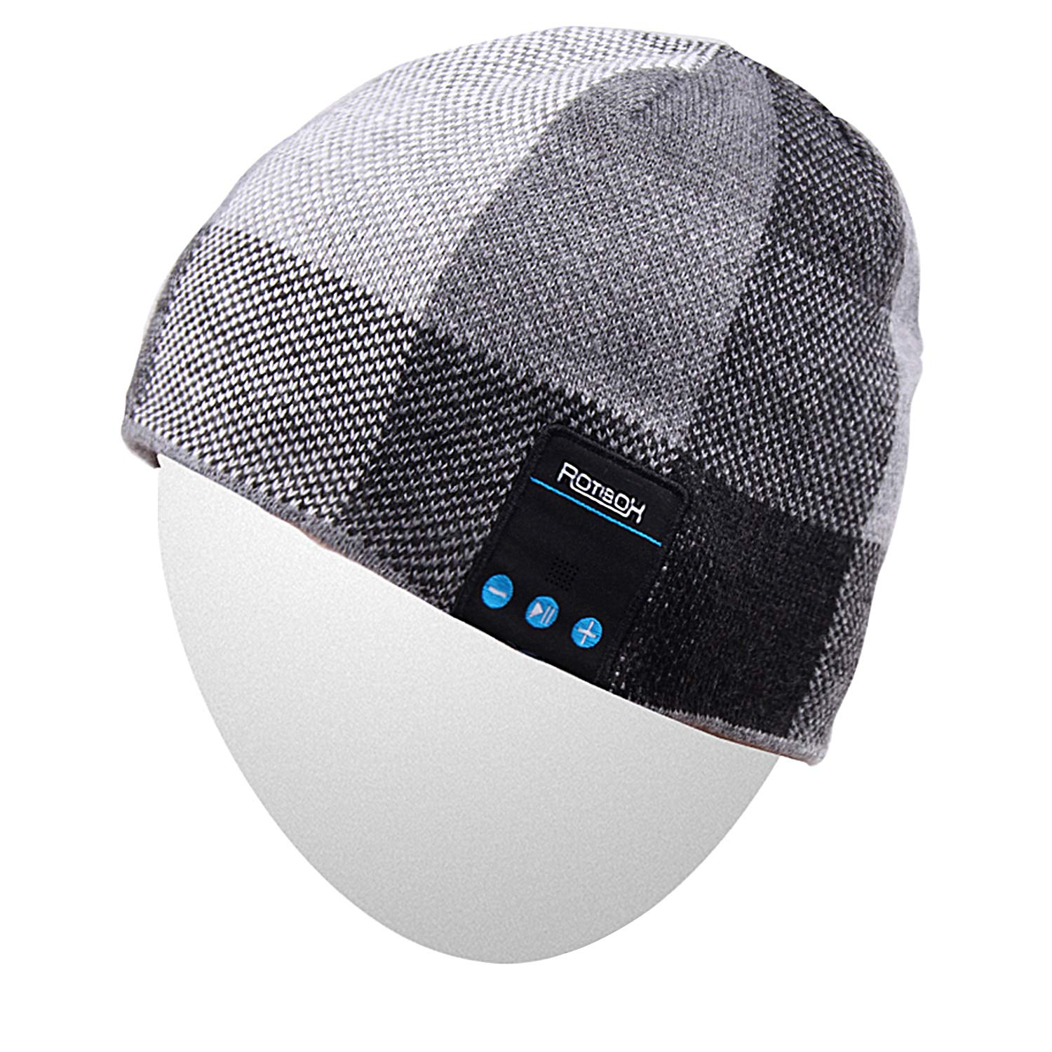 Rotibox Bluetooth Beanie Hat Wireless Headphone for Outdoor Sports Xmas Gifts