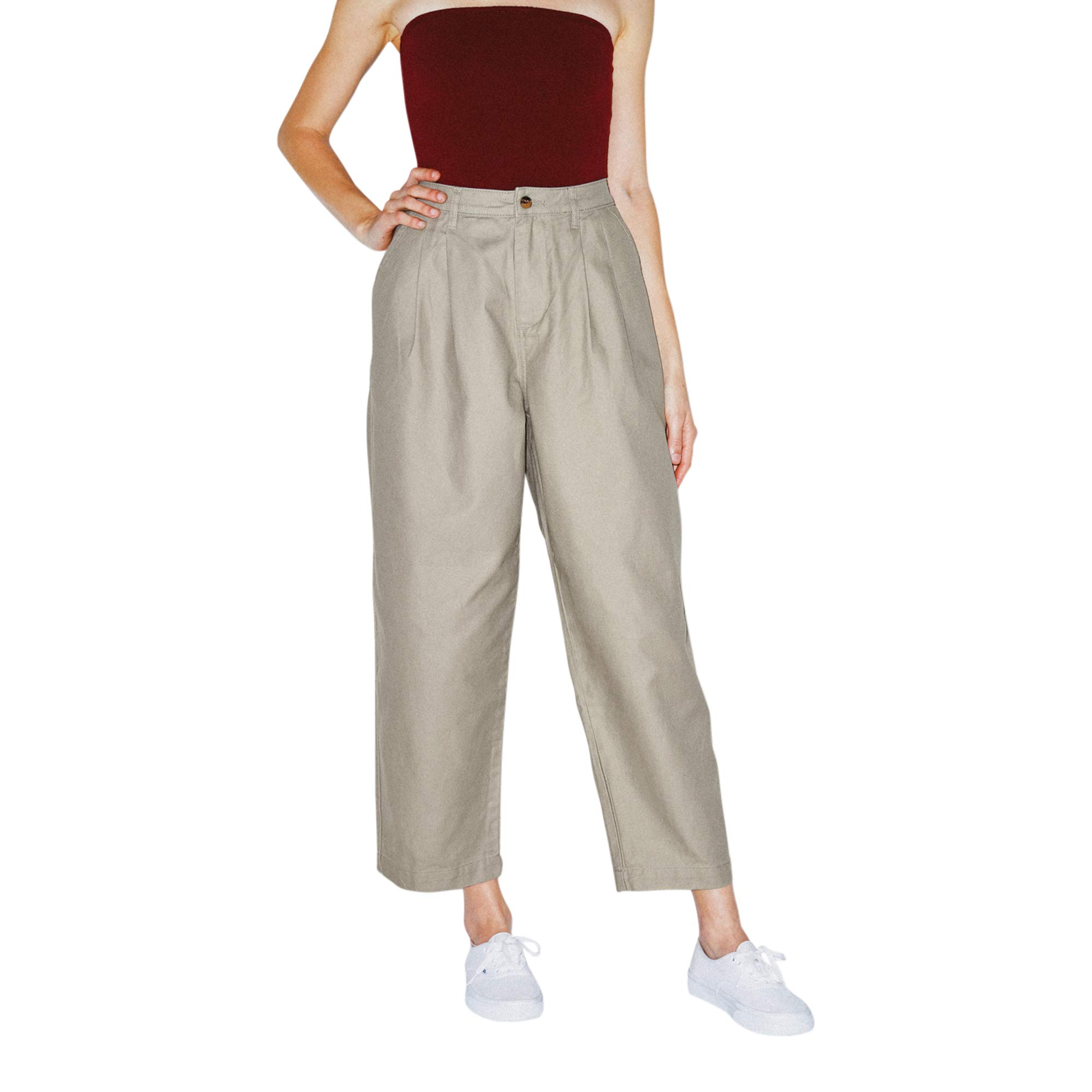 American Apparel Women's Twill Pleated Pant