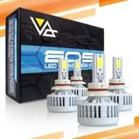 Optix P.RA 3-Sided EOS 9005 + 9006 LED Headlight Bulbs - Low Beam + High Beam - Complete Conversion Kit - 6000K Cool White