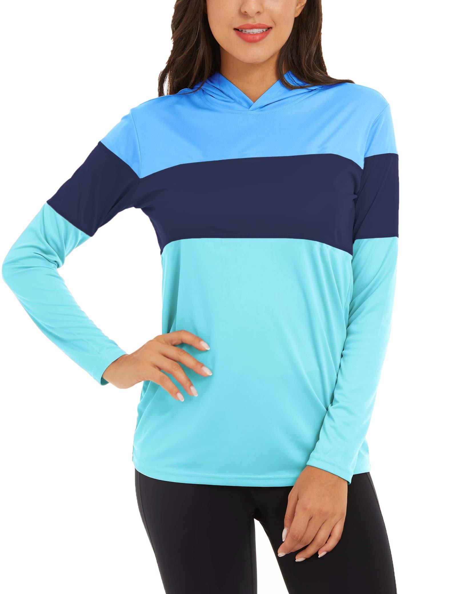MAGCOMSEN Women's UPF 50+ UV Sun Protection T Shirts Long Sleeve Dri Fit Hoodie Performance Workout Running Shirts