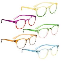 Reading Glasses 5 Pack Fashion Readers for Women(One for Each Color, 1.25)