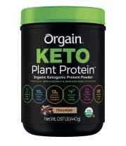 Orgain Keto Plant-Based Protein Powder, Chocolate- Keto Friendly, Organic, Vegan, Gluten Free, Organic Prebiotic Fiber, 0.97 Pound