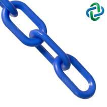 Mr. Chain Heavy Duty Plastic Barrier Chain, Blue, 2-Inch Link Diameter, 100-Foot Length (51006-100)